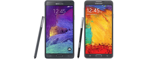 Comparatif Galaxy Note 4 vs Galaxy Note 3